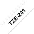 Ruban TZe241, 18mm Noir sur fond Blanc, Laminé, 8M
