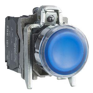 Harmony XB4 - poussoir lumineux LED - 1F+1O - bleu - D=22 - 24VACDC