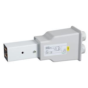 Canalis KBB - embout d'alimentation droit 40A blanc - 2x(3L+N)+PE - bus