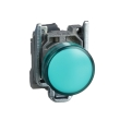 Harmony XB4 - voyant - avec LED - 24VACDC - D=22 - cabochon lisse vert