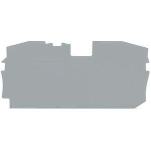 TOPJOBS : Plaque d'extrémité et intermédiaire 2C / Gris