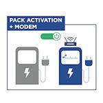 Pack activation pour une borne de charge avec modem. 3 mois de services inclus.