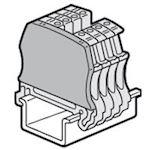 Cloison terminale bloc jonction Viking3 à vis - 1 entrée/1 sortie - pas 12 et 15