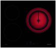 Table vitrocéramique 60 cm - 3 High-Light dont 1 extensible - 5,4 kW - Système d