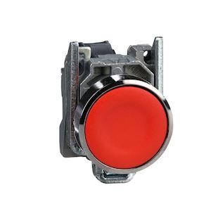 Harmony XB4 - bouton poussoir à impulsion - D=22 - rouge - 1O - vis étrier