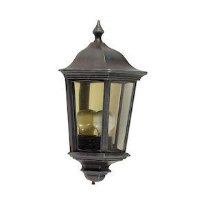 LIZZIO - Applique Mur Ext. IP44 IK08, noir, E27 100W max., lampe non incl.