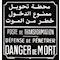 plaque alu poste franco/arabe
