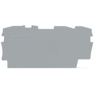 TOPJOBS : Plaque d'extrémité et intermédiaire 3C / Gris