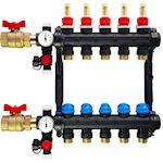 Collecteur pré-monté NIS avec débitmètre 8 circuits