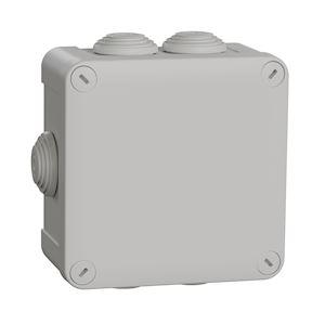 Mureva Box, boite de dérivation IP55 + embouts 105x105x55, gris
