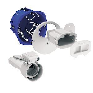 Multifix DCL, boîte d'applique avec couv. affleurant, connecteur, douille, fiche