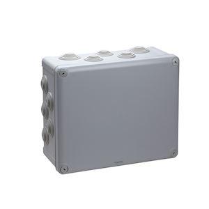 Mureva Box, boite de dérivation IP55 + embouts 275x225x120, gris