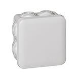 Boîte de dérivation carrée Plexo dimensions 80x80x45mm - gris RAL7035