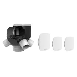 Kit autocosy vmc autoreglable 4 sanitaires  (3 bouches line)