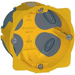 Boite d/'encastrement BATIBOX multimatériaux simple poste Legrand 080121