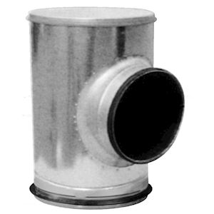 TE SOUCHE INSONORISE GALVANISE A JOINTS VELODUCT D200 MM