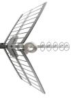 Antenne UHF double réflecteur 6 éléments LTE canaux 21 à 60 Spécial 4G