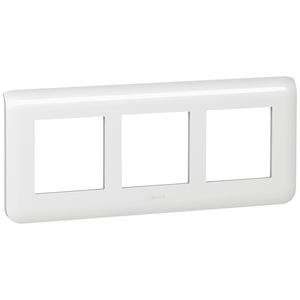 pour 1 module Blanc 099637 Plaque avec support Mosaic