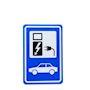 Panneau de signalisation recharge véhicule électrique