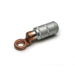 Cosse alu-cuivre 240 mm² - Diam. 12 mm à fut court (rétreint hexagonal)