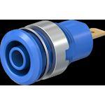 Douille 4 mm de sécurité bleu