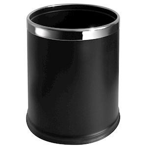 CORBEILLE ronde 10L noire double paroi