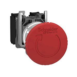 Harmony XB4 - bouton arrêt urgence - D=40 - pousser tourner - rouge - 2O - vis