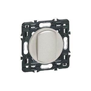 250 V 10 AX Legrand 099771 C/éliane Soft 099771 Titane Double interrupteur ou va et vient