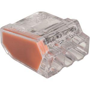 Borne de connexion orange automatique 3 entrées (x 150)