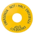 Access. pour Signum 3SB3 rond étiquette arrêt d'urgence jaune