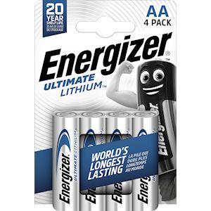 ENERGIZER PILE ULT. LITHIUM AAx4. La pile idéale pour un usage intense et pour l