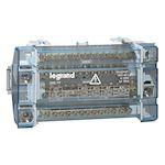 Répartiteur monobloc 4P à bornes 160A -15 connexions par barreau -10 modules DIN