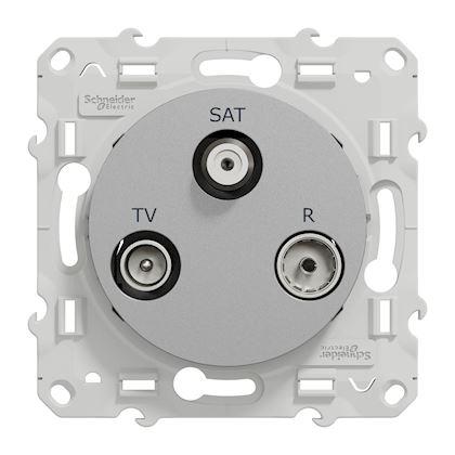 SAT Alu Schneider Electric Odace Prise TV FM
