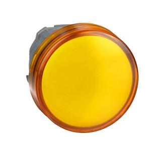 Harmony XB4 - tête voyant LED - cabochon lisse - orange - D=22