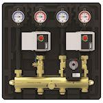 Module hydraulique compact pour 2 circuits chauffage V3V