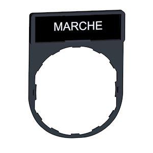 Harmony - porte-étiquette 30x40 + étiquette 'MARCHE' 8x27 - blanc/noir