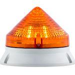 CTL900 LED , feu fixe/clignotant, IP54, V12/24ACDC, diam 90mm, base grise