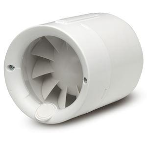 Aérateur de conduit, 100 m3/h, 12 W, encastrable, clapet anti-retour, D 100 mm