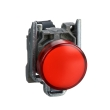 Harmony XB4 - voyant - avec LED - 24VACDC - D=22 - cabochon lisse rouge