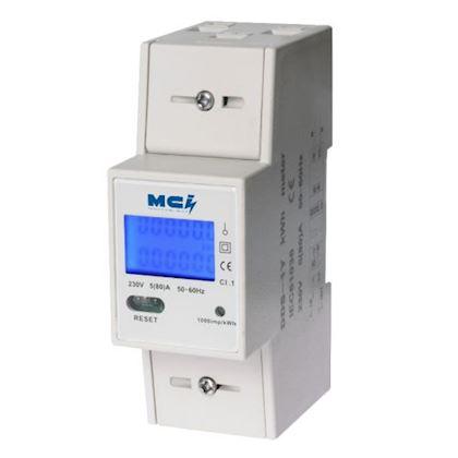 Compteur de courant BMK blanc Bloc dalimentation Protection contre les surcharges 3680 W 1pcs Prise de courant Mesure de puissance avec grand /écran LCD Compteur de puissance