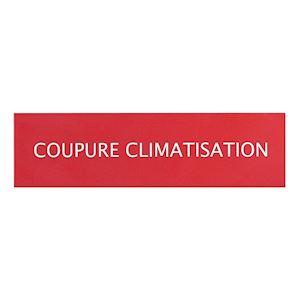 LOT DE 3 ETIQUETTES COUPURE CLIMATISATION POUR COFFRET 125