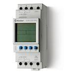 Horloge astro hebdomadaire digitale 2 inverseurs 16A 230V avec réserve de marche