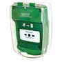 Coque de protection DM saillie avec sirène évacuation vert (pile fournie)