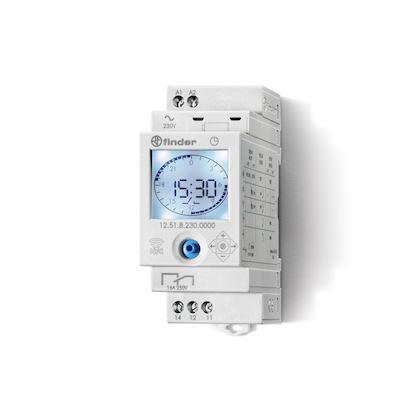 /Interrupteur cr/épusculaire digital Finder s/érie 11/