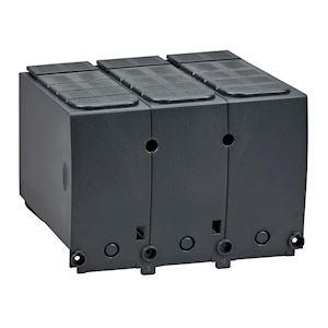 Compact NSX400-630 - 1 cache-borne long pour disjoncteur ou socle - 45mm - 3P
