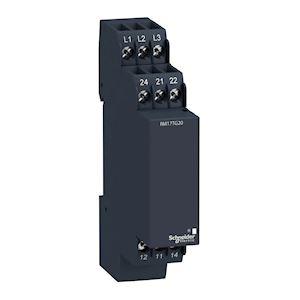 Zelio control, ordre et absence de phase, triphasé, 208-440VAC