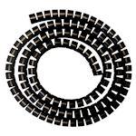 MANGE-CABLE : gaine diamètre 20 mm - Coloris NOIR - Le rouleau de 30 mètres